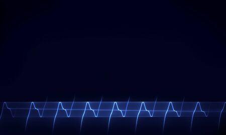 cardioid: Resumen de antecedentes de las líneas de la curva de oscilación armónica Foto de archivo