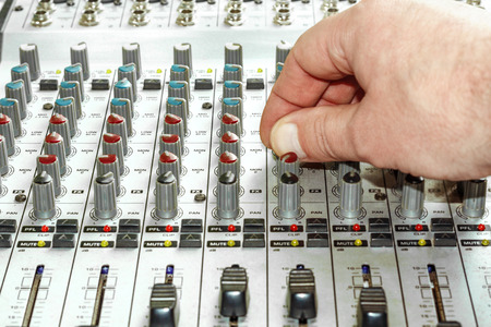 parameters: Hand tuning frequency parameters on audio mixer