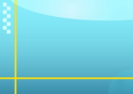 Illustration of a light blue abstract background with yellow lines