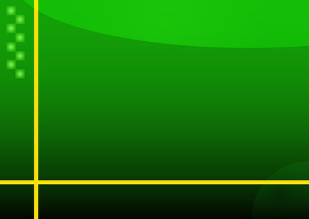 Illustration of green abstract background with yellow lines