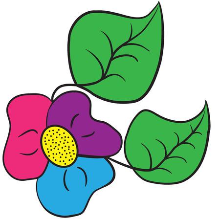 Illustration von dreifarbigen Kleeblatt Blume auf einem weißen Hintergrund