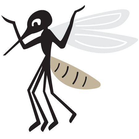 arrogant: Silhouette of arrogant mosquito on a white background