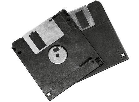 floppy: Two floppy disks isolated on white background