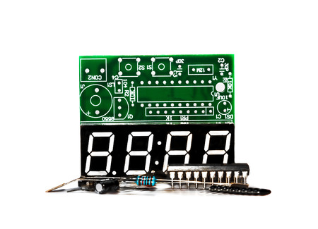 resonator: Set of electronic components on light background