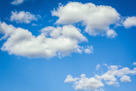 Beautiful blue sky with clouds on a sunny day Archivio Fotografico - 126202411
