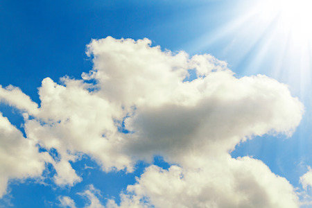 Beautiful blue sky with clouds on a sunny day