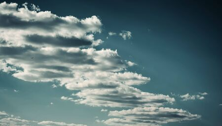 Cinematic landscape of the sky with clouds at sunset Banco de Imagens
