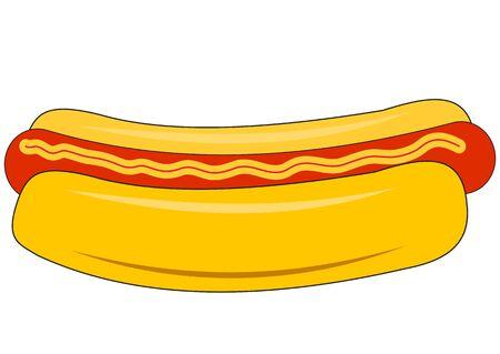 Illustration of a big hot dog on a white background 版權商用圖片 - 132052680