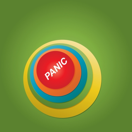 EPS10 Colorful Abstract panic button - Vector Design Vector