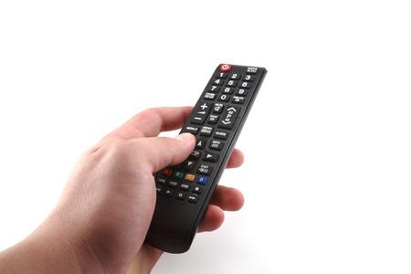 흰색 배경에 Tv 리모콘 스톡 콘텐츠