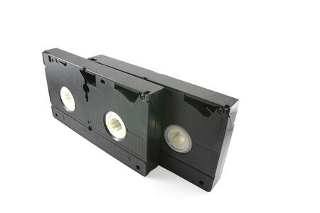 vhs videotape: Video tape on white background