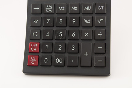 Close-up of calculator buttons  photo