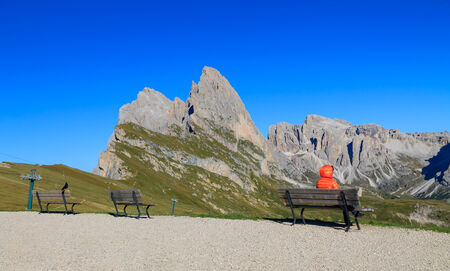 odle: Funes valley, the wonderful Odle mountain range in the Dolomites,Italy