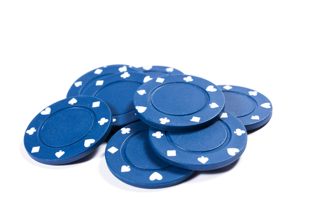 chip: Poker chips on white background
