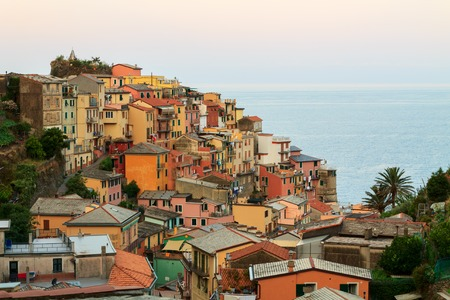 fishing village: Manarola charming little fishing village, colorful houses in Italy
