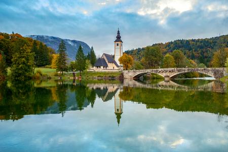 st john: St John church the Bohinj lake, Julian Alps in Slovenia