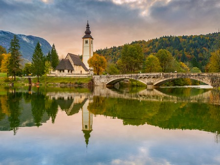 st john: St John church the Bohinj lake, Julian Alps in Slovenia