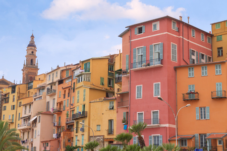 menton: Menton town in a colorful houses at summer in south of France