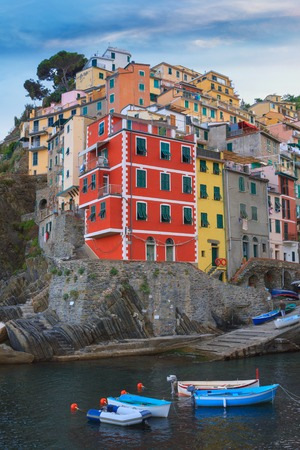 fishing village: Riomaggiore charming little fishing village, colorful houses in Italy