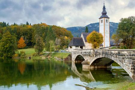 bohinj: St John church the Bohinj lake, Julian Alps in Slovenia