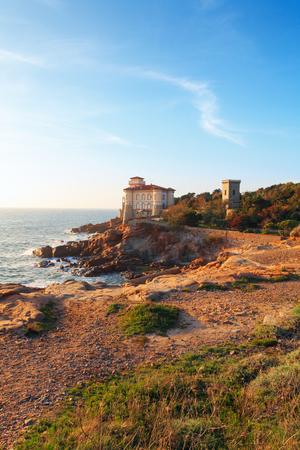 livorno: Boccale castle the sea near Livorno in Tuscany region in Italy