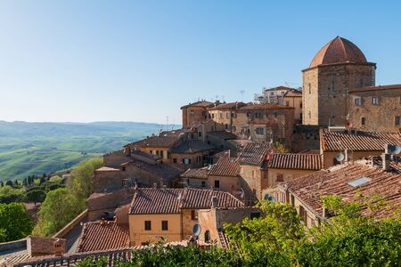 mediterranean culture: Volterra beautiful medieval town in Tuscany, Italy