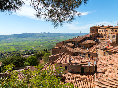 Volterra beautiful and cozy medieval town in Tuscany, Italy, Europe