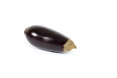 Fresh and healthy eggplant on white background Imagens