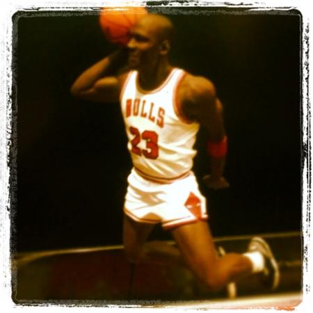 michele: Michael Jordan Champion Slam Dunk Archivio Fotografico