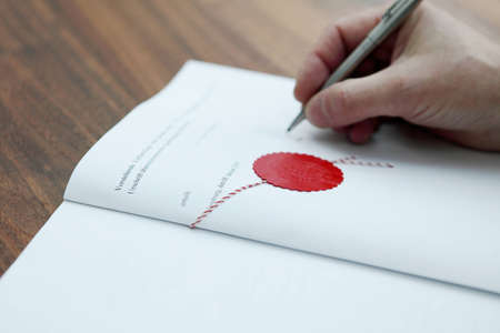 notary: Closing the deal Stock Photo