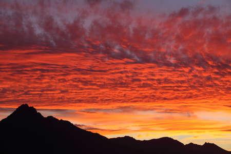 zealand: Sunset in New Zealand Stock Photo