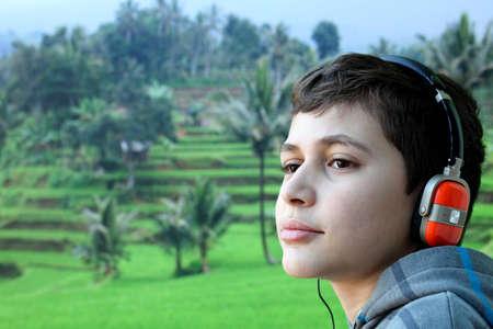 Boy with headphone Stock Photo - 8916130