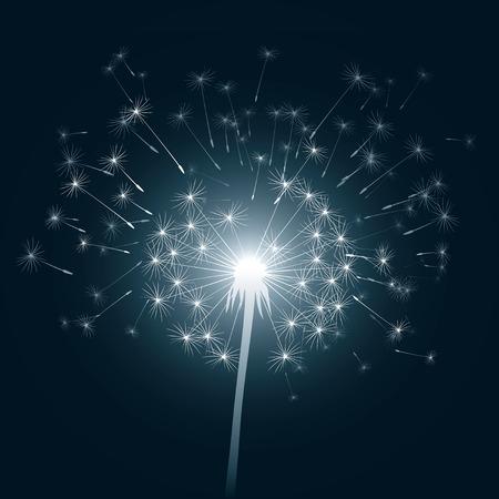 lllustration of dandelion and light Vector