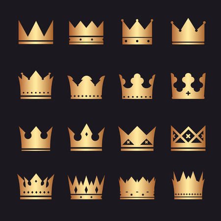 set of crowns Vectores