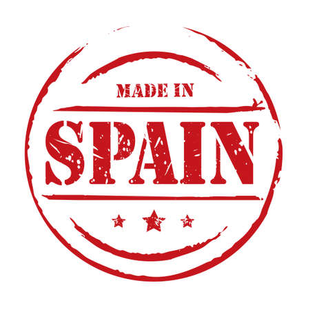made in spain: Red vector stamp Made in Spain
