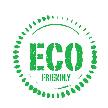 eco green: Green vector grunge stamp ECO