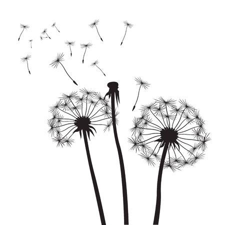 posterity: Black vector dandelions