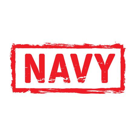 navy: Navy red vector stamp