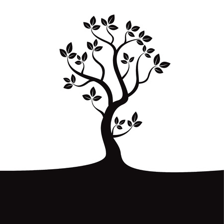 Black vector tree Illustration