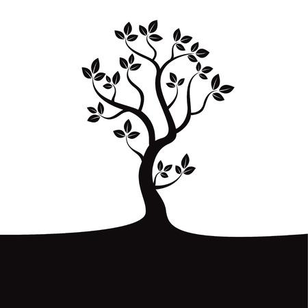 Black vector tree Vectores