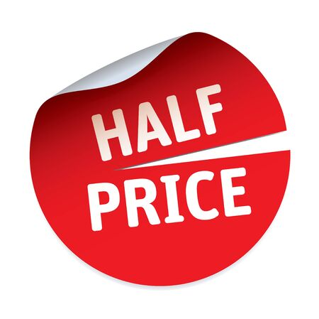 half price: Red Sticker HALF PRICE