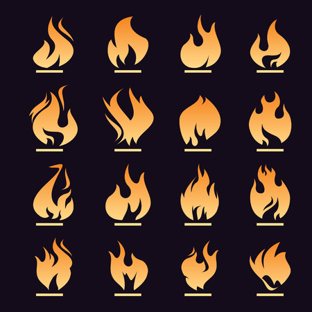 abstract swirls: Set of shape fire Illustration