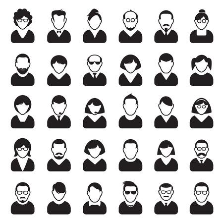 Set of Human Icon. Corporation people. Avatars. Vettoriali