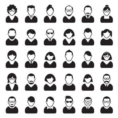 Set of Human Icon. Corporation people. Avatars. 向量圖像