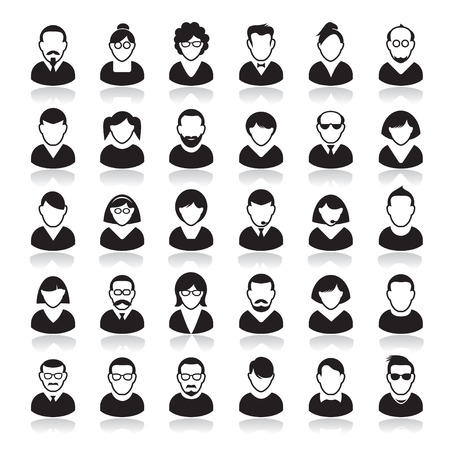 Set of Human Icon. Corporation people. Avatars. Vettoriali