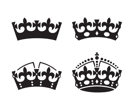 nobleman: Hictoric Crowns. Vector illustration.