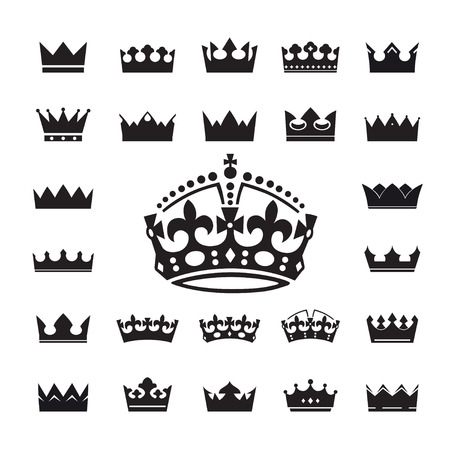 nobleman: Collection of Crowns. Vector Illustration.