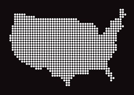 article icon: White map of the US