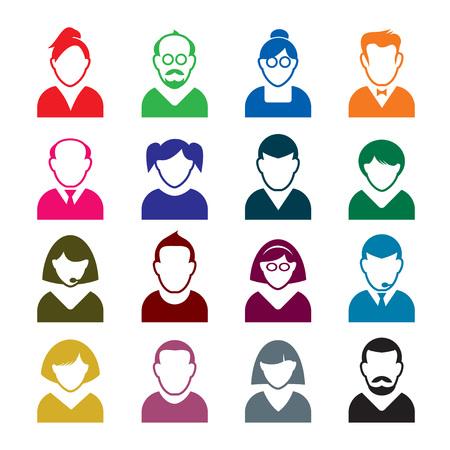 human icons: Human color icons.