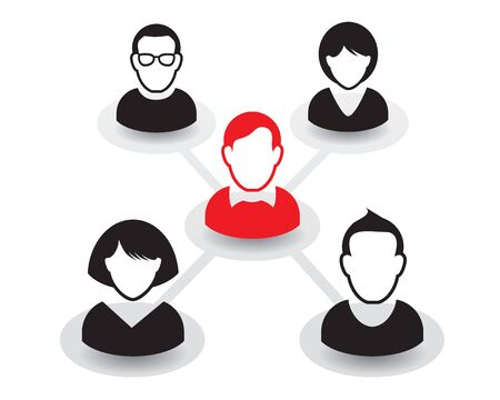 Human color icons. Vector Illustration of public relations ..